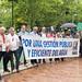 Cadena Humana contra el ICA en Zaragoza