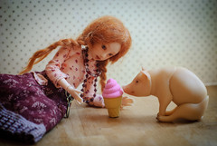 DSC_4673 (peregrina_tyss) Tags: pig movingdolls chucha happiness bjd obitsu haruka brynhild