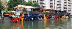 IMG_1292 ART FLUVIAL (WORLD OF FMR) Tags: art artist fleuve sea water peniche boat canon photo paris photography graffiti caps can aerosol paint color
