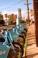 Blue Bikes (bongo najja) Tags: orleans new bikes blue m3 leica 200 iso fujifilm