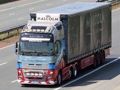 Malcolm Logistics,  200,000th  Volvo In Great Britain (Gary Chatterton 4 million Views) Tags: whmalcolm malcolmlogistics 200000 volvo volvofh trucking truck lorry articulated wagon transport haulage motorway flickr flickrtrucks explore photography canonpowershot camera greatbritain unitedkingdom
