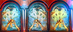 Time Adjustments (byzantiumbooks) Tags: clock time triptych flipped