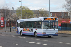 First Glasgow - WX06 OMR (42958) (MSE062) Tags: first glasgow dennis dart alexander plaxton pointer west england bristol bath wx06omr wx06 omr low floor single decker bus scotland 42958