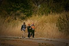 Music man in the park (bluesbby) Tags: park man woman guitar music entertainment fun
