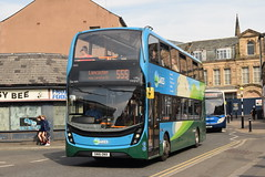 SCNL 10555 @ Lancaster bus station (ianjpoole) Tags: stagecoach cumbria north lancs alexander dennis enviro 400mmc sn16onx 10555 working the lakes connection route 555 keswick bus station lancaster