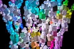 3d fractal arrangement (pbo31) Tags: bayarea california night black color nikon d810 boury pbo31 urban city june 2018 sanfrancisco hayesvalley colorful multicolored lights art sculpture squared cubes patriciasgreen park burningman contemporary tree future blue