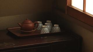 Sencha tea set  - taken with an old  lens  :) (1960's )