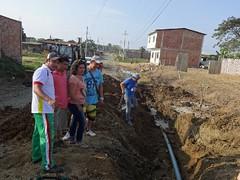 Instalación de Agua Potable en Jardines del Inca (GadChoneEC) Tags: agua potable epmapacich chone ciudadela jardinesdelinca avenida eloyalfaro servicio empresa alcantarillado control inundaciones vital