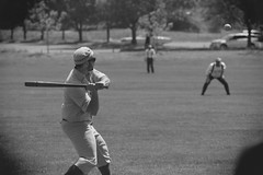 Vintage Baseball, Cantigny Park. 38 (EOS) (Mega-Magpie) Tags: canon eos 60d outdoors vintage baseball cantigny park wheaton dupage il illinois usa america person people men guys dude fella players team bw black white mono monochrome