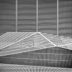 IMG_7953 (Kathi Huidobro) Tags: steelwork facade angles patterns linear lines blackwhite urban bw monochrome modernarchitecture airventilation airvent texture metalwork architecturaldetail architecture