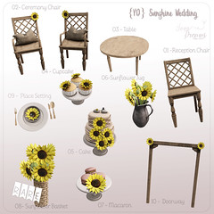 {YD} Sunshine Wedding ({Your Dreams}) Tags: yourdreams newdecoration gacha theimaginariumevent 100originalmesh sunflower