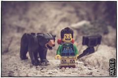 Photobombing! (Priovit70) Tags: lego minifigure bear selfie mountains olympuspenepl7