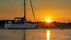 Sunset on the pontoon (Peter H 01) Tags: calm boats harbour langstoneharbour pontoon mooring sailing goldenhour golden sunset