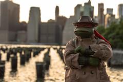 Raphael In Disguise (MadMartigen) Tags: newyork nyc timessquare manhattan raphael tmnt teenagemutantninjaturtles neca necatoys