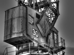 Number 30 (RS400) Tags: bristol black white wow cool amazing hdr zoomed photography travel crane construction docks southwest uk working transport times art