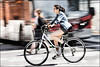 Downtown Raleigh Rider (Dan Dewan) Tags: 2018 canonef70200mmf14lisusm portrait bicycle street people person canon colour cyclist ottawa june sunday woman girl ontario canada glasses panning dandewan lady