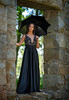 Oscany (QuarryClimber) Tags: outdoorportrait blackdress westquincymassachusetts sonya7riii sony85mmgm spring2018 woman female elegant formal ruins longhair browneyes pretty beautifulwoman