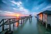 Broken Bridge (leslie hui) Tags: malaysia longexposure sonyalpha seascape sunrise water sonya7rii sea