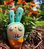 Zombie Bunny and Orange (welovethedark) Tags: zombiebunny k2toy vinyltoy arttoy