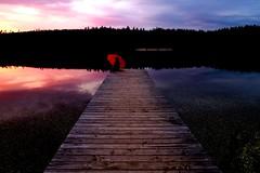 Allemagne Forêt Noire (Schwarzwald) - Kirn bergsee mai 2018 (roger gabriel simon) Tags: schwarzwald kirnbergsee ponton germany allemagne lake crépuscule lac sky water personne nuages clouds reflection