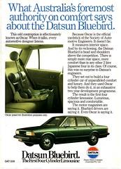 1982 Datsun Bluebird Nissan Aussie Original Magazine Advertisement (Darren Marlow) Tags: 1 2 8 9 19 82 1982 d datsun b bluebird n nissan c car cool classic collectible collectors a automobile v vehicle j jap japan japanese asian 80s