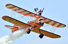 Wing-Walker.. (mickb6265) Tags: duxford duxfordairfestival iwm imperialwarmuseum boeingpt17stearman aerosuperbatics wingwalkers