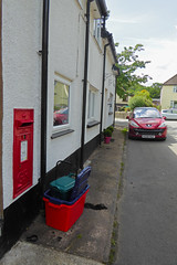 George V cypher Wall box Swan Cottage Llanfyrnach 10.08.2017 (1) (The Cwmbran Creature.) Tags: po p o gpo g general post office letter red street furniture heritage great britain united kingdom gb uk