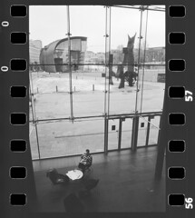 NCP_013 (nocrop.project) Tags: ncp nocropproject filmphotography filmisnotdead grainisgood istillshootfilm monochrome blackandwhite 35mmfilm analogue photography darkroom neorealism streetphotography ordinarylife helsinki finland travel finnish architecture music teatre fomapan 400 ilford id11 selfdeveloped cityscape