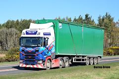 BRIAN & AYRLIE YUILL LTD SCANIA NEXT GENERATION S500 X2 BAY (Darren (Denzil) Green) Tags: s500 scanianextgeneration brian yuill ejectortrailer wastetransport tore a9 x2bay ejector trailer transport waste generation next scania