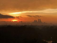 Sunset Over Philadelphia PA (Brian E Kushner) Tags: clouds sky doom gloom iphone iphone8plus 8 philadelphia sunset center city pennsylvania