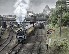 92214 (Geoff Griffiths Doncaster) Tags: 92214 gcr great central railway 1940s loughborough 9f