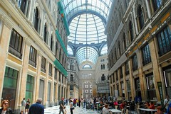 Shopping in Galleria Umberto I (zawtowers) Tags: naples napoli campania italy italia may 2018 summer holiday vacation break warm dry sunny tuesday 29th galleria umberto i shopping centre wide walkway high ceiling roof glass people busy