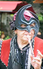 Flute Music (Stanley Zimny (Thank You for 32 Million views)) Tags: man mask face renaissance faire people music whistle flute