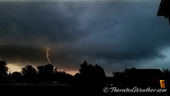 June 6, 2018 - A bold from the evening clouds. (ThorntonWeather.com)