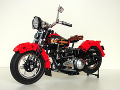 HD Knucklehead (henrik.soeby) Tags: lego harley davidson knucklehead technic mc motorbike vintage