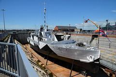 HMS M33 World War I monitor (davids pix) Tags: hms m33 minerva hulk c23 monitor warship first world war ww1 1915 gallipoli dardenelles preserved portsmouth royal navy dockyard 2018 02062018