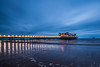 The Grand Pier... (Jess Feldon) Tags: somerset bristolchannel westonsupermare thegrandpier pier sea coast longexposure lights jessfeldon seaside island flatholmisland beach