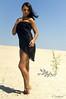 Fata morgana 1 (Roman Dmytrovych) Tags: sand girl black cloth mirage
