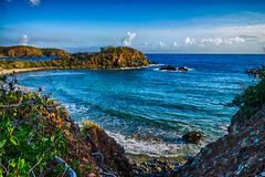 Worth the Walk (tquist24) Tags: atlanticocean hdr nikon nikond5300 outdoor stthomas usvirginislands virginislands beach clouds geotagged island nature ocean rocks sea seascape sky tropical water