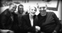 lydia66&me's mum birthday (me, paolo and the seven wonders + two&little3) Tags: dave davide loris compleanno 92anni bw bn