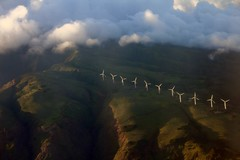 Eleven windmills, Maui (stephencharlesjames) Tags: hawaii maui windmills power landscape weather aerial view