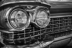 1960 Cadillac (Modkuse) Tags: cadillac 1960cadillac classic classicautomobile classiccar nikon nikonn90s tokina tokinaaf2870mmf2628 fujichrome fujifilm slide slidefilm transparency fujivelvia velvia fujichromevelvia monochrome monochromefromslide bw blackandwhite
