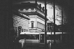 Tram Stop in Grey (Clive Varley) Tags: bw silverefexpro2 archive