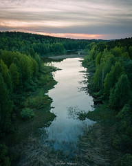 End of the Lake. (laurilehtophotography) Tags: jyväskylä centralfinland finland suomi mavic pro drone aerial photography landscape nature lake reflections summer trees forest clouds sunset europe amazing world kortesuo dji fc220