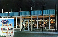 Herman House, Florence, South Carolina (SwellMap) Tags: postcard vintage retro pc chrome 50s 60s sixties fifties roadside mid century populuxe atomic age nostalgia americana advertising cold war suburbia consumer baby boomer kitsch space design style googie architecture