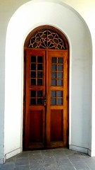 Masoudieh Palace (afs.harp) Tags: wooden door brown glass history historical tehran iran art