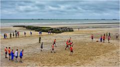 D-day beaches, Arromanches today ... ( 3 ) (miriam ulivi) Tags: miriamulivi nikond7200 francia normandia arromancheslesbains spiaggedellosbarco 6giugno1944 dday stphotographia people