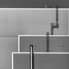 facade (morbs06) Tags: abstract architecture building bw facade grey industrial light lines metal monochrome repetition shadow square stripes texture