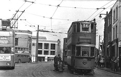 London transport at Woolwich circa 1951. (Ledlon89) Tags: trams tram tramway londontrams london transport lt lte londontransport woolwich newcross southlondon selondon southeastlondon electrictransport 1951 1950s dgy416 londontrolleybus londontram trolleybusoverhead