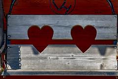 two hearts ~ one bench vs2 (mariola aga) Tags: southdakota 1880town openairmuseum swing bench hearts closeup coth coth5 infinitexposure